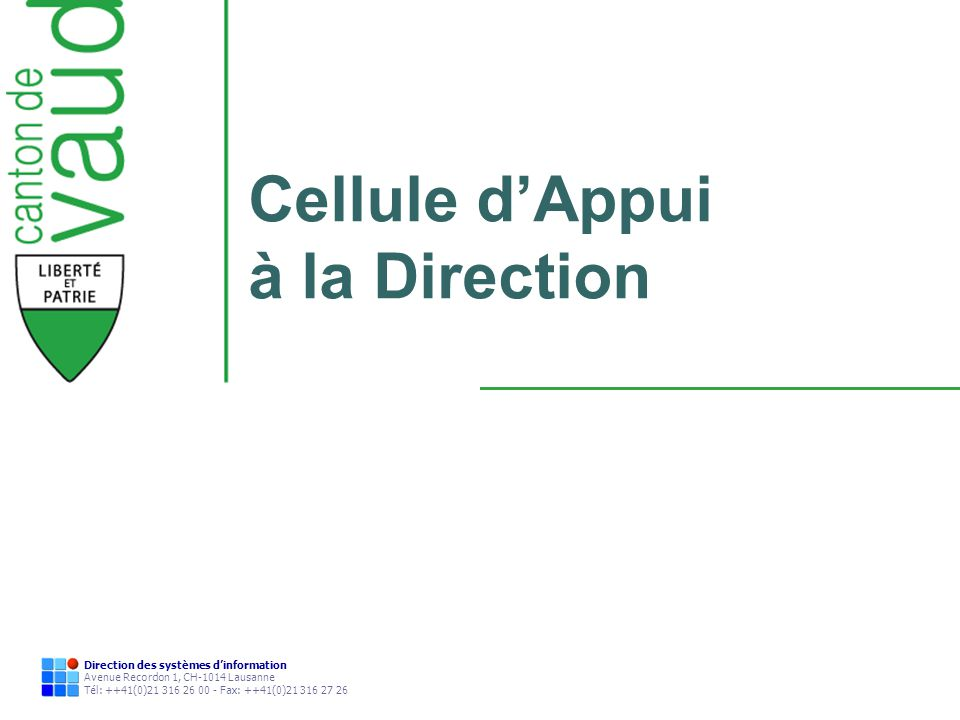 Cellule d'Appui à la Direction