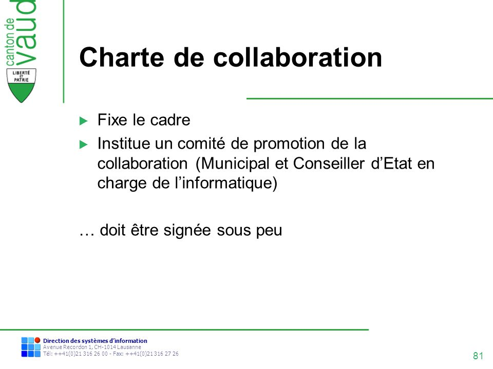 Charte de collaboration