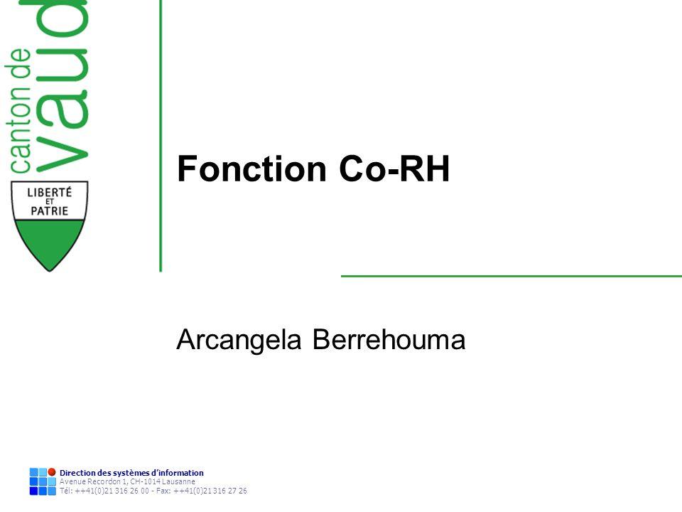 Fonction Co-RH Arcangela Berrehouma
