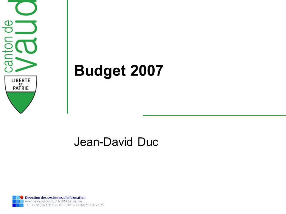 Budget 2007 Jean-David Duc