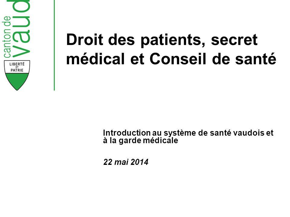 Droit des patients, secret médical et Conseil de santé