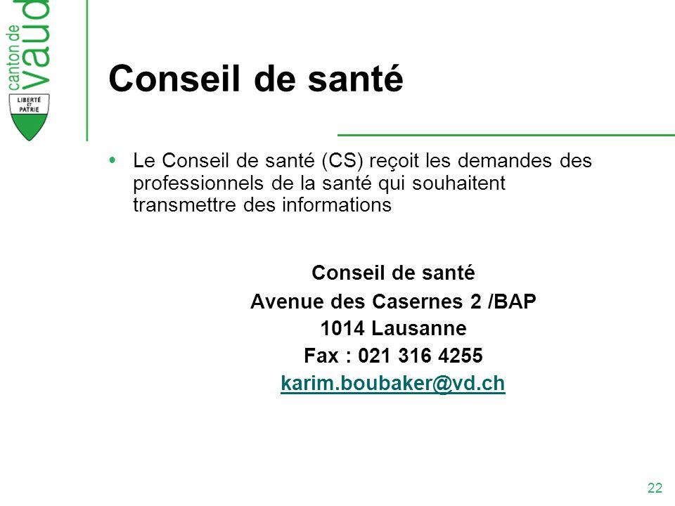 Avenue des Casernes 2 /BAP