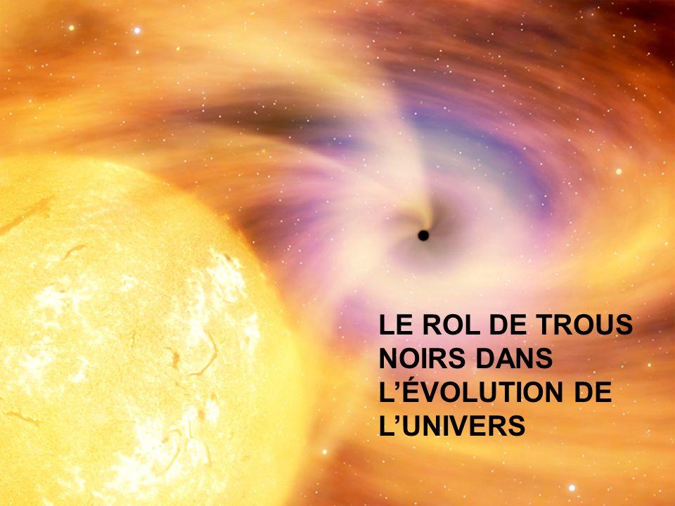 LE ROL DE TROUS NOIRS DANS L'ÉVOLUTION DE L'UNIVERS