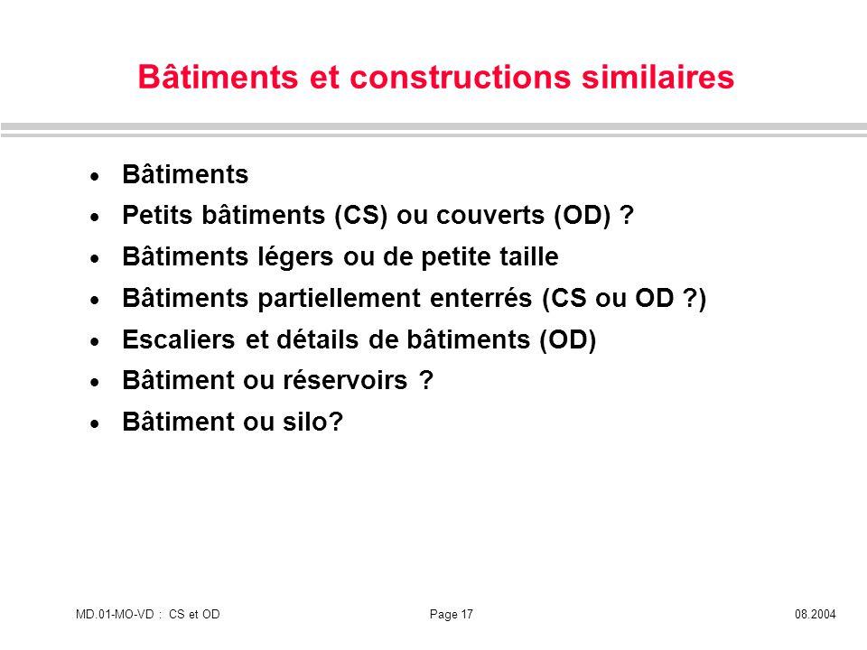 Bâtiments et constructions similaires