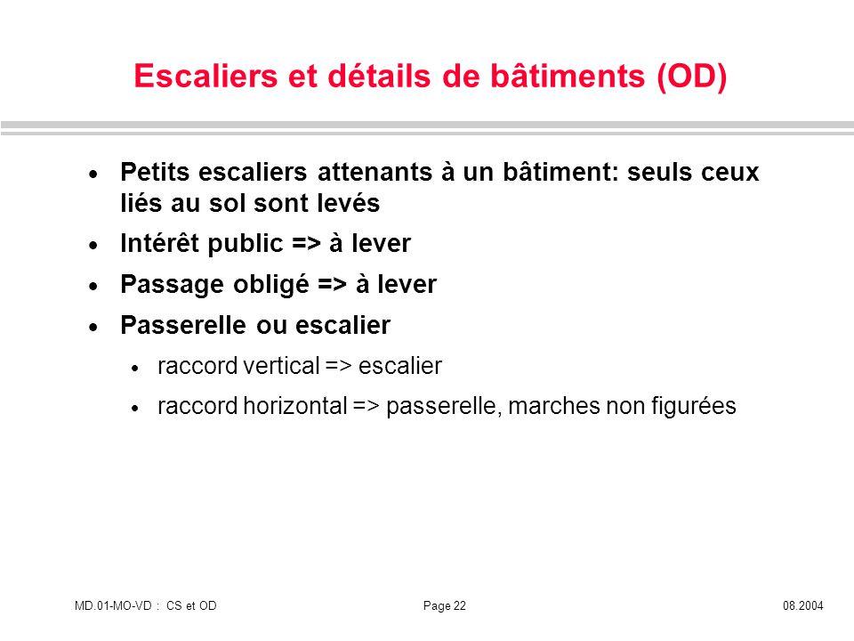 Escaliers et détails de bâtiments (OD)