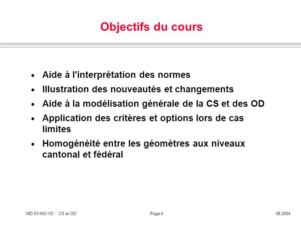 Objectifs du cours Aide à l interprétation des normes
