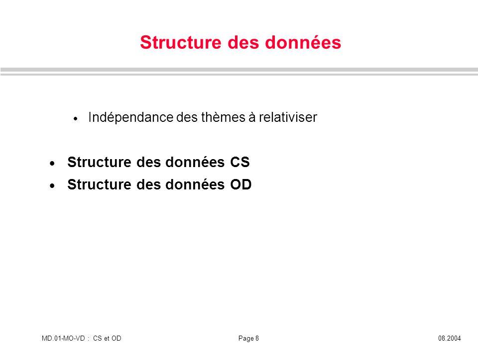Structure des données Structure des données CS