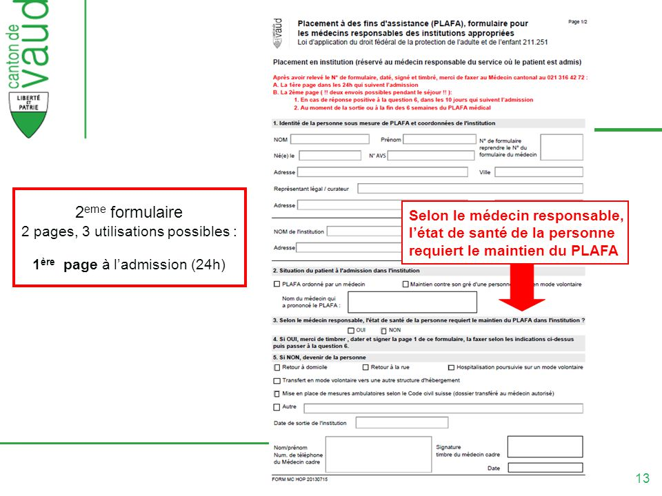 2eme formulaire 2 pages, 3 utilisations possibles :