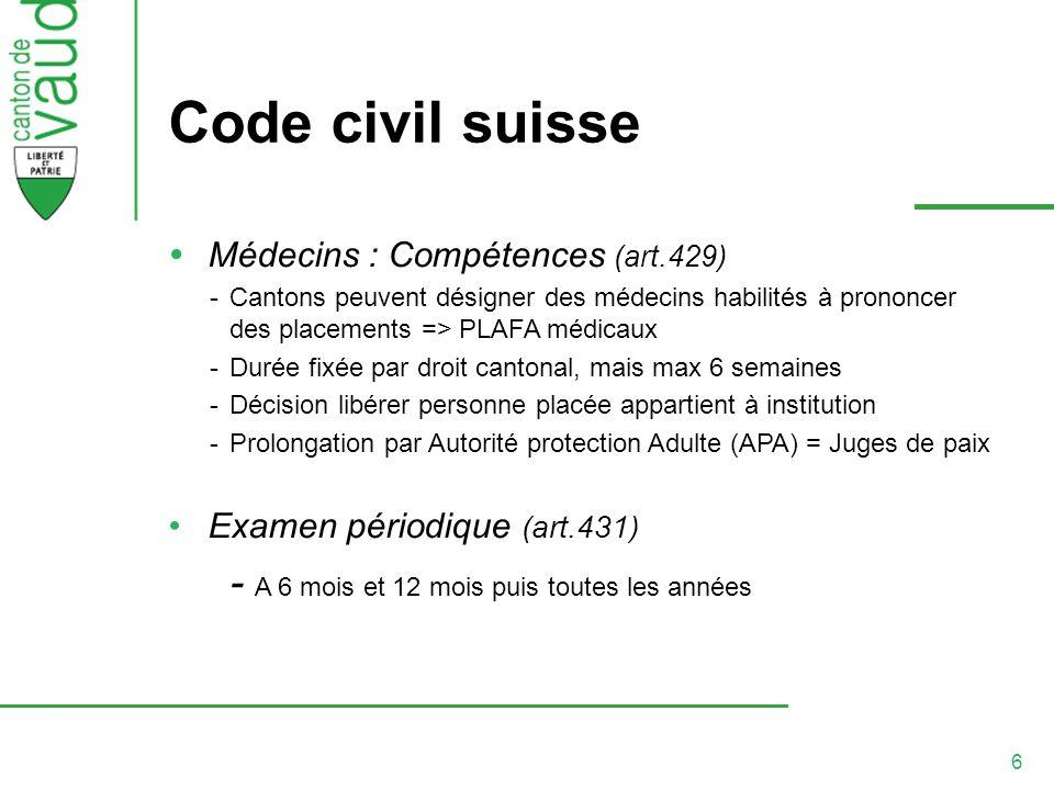 Code civil suisse - A 6 mois et 12 mois puis toutes les années