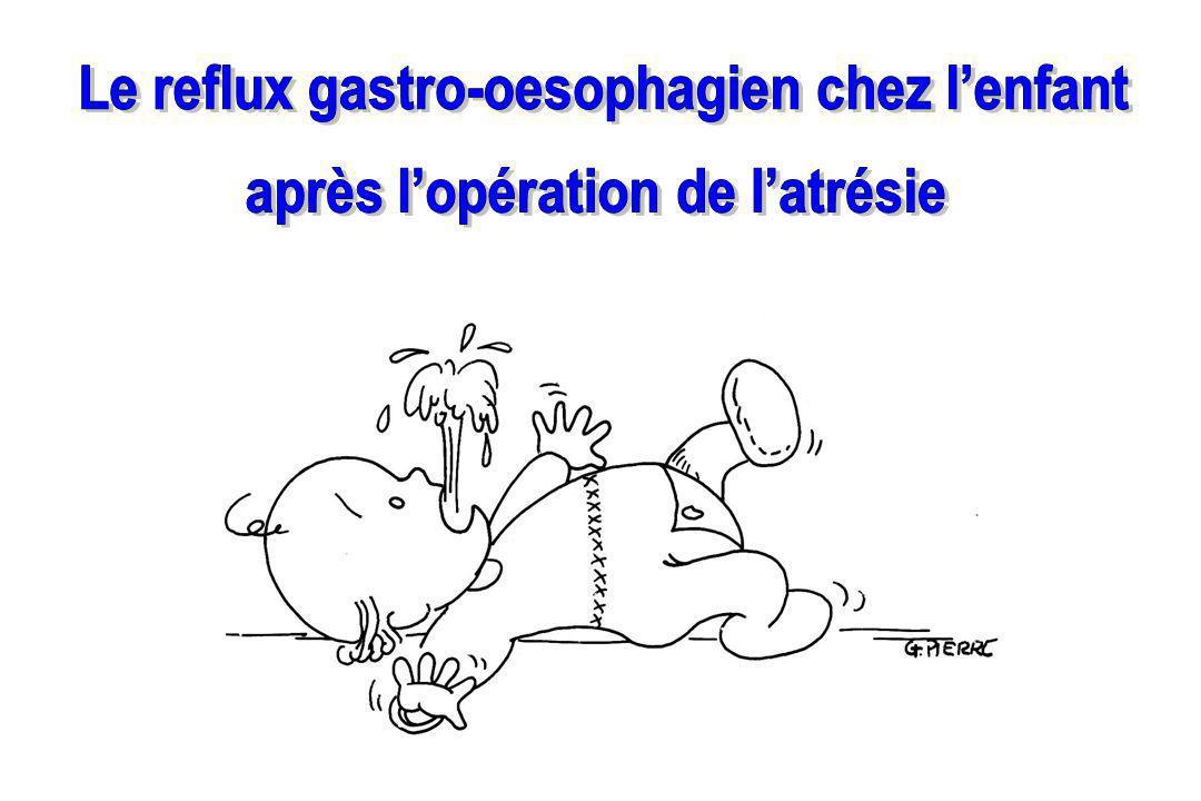 Le reflux gastro-oesophagien chez l'enfant