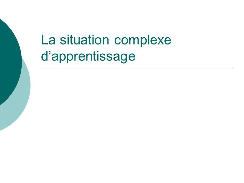 La situation complexe d'apprentissage