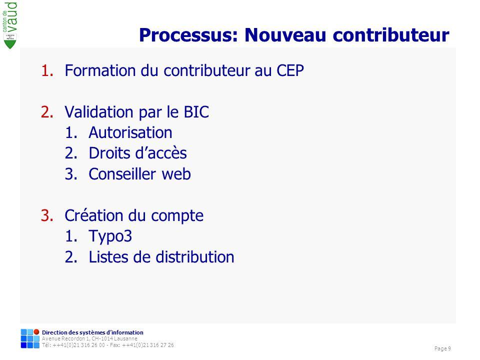 Processus: Nouveau contributeur