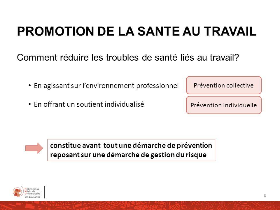 PROMOTION DE LA SANTE AU TRAVAIL