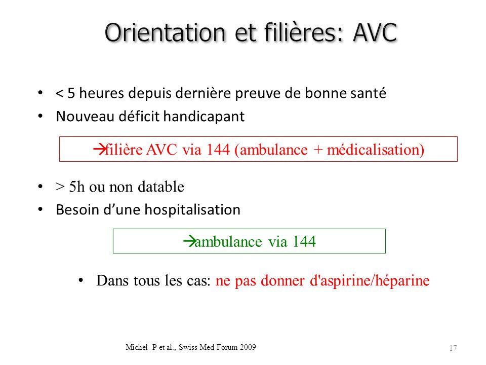 Orientation et filières: AVC