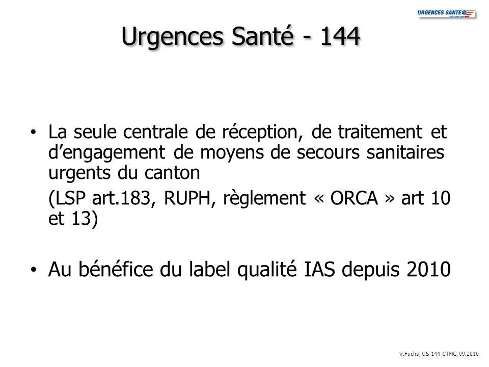 Urgences Santé - 144 Au bénéfice du label qualité IAS depuis 2010