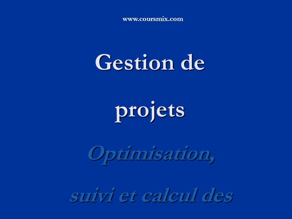 Gestion de projets Optimisation, suivi et calcul des performance
