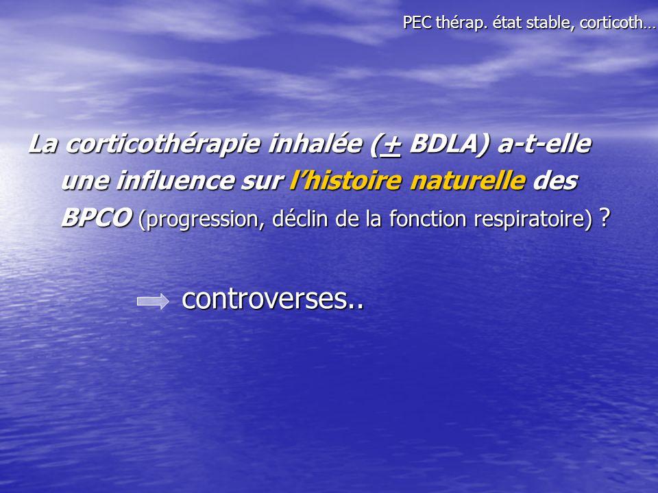 PEC thérap. état stable, corticoth…
