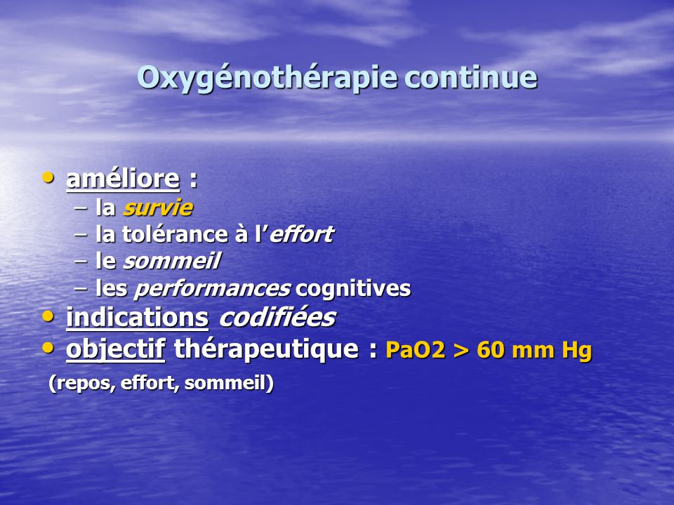 Oxygénothérapie continue