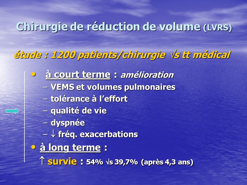 Chirurgie de réduction de volume (LVRS)