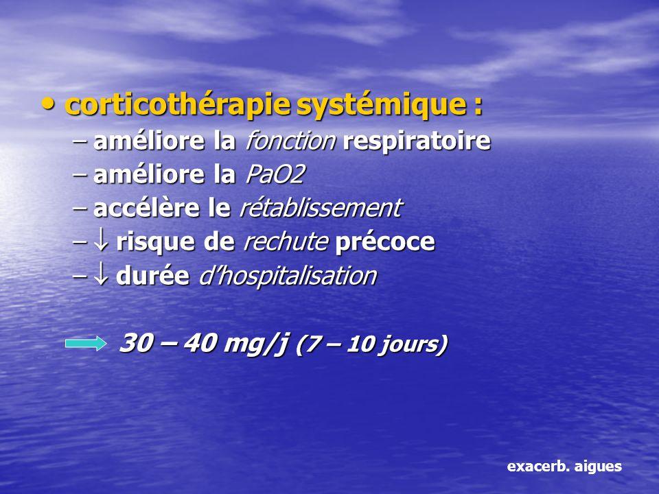 corticothérapie systémique :
