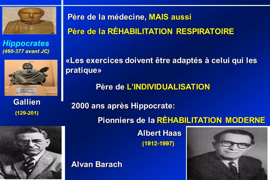 Père de la médecine, MAIS aussi Père de la RÉHABILITATION RESPIRATOIRE