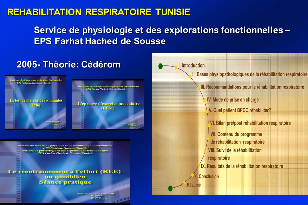 REHABILITATION RESPIRATOIRE TUNISIE