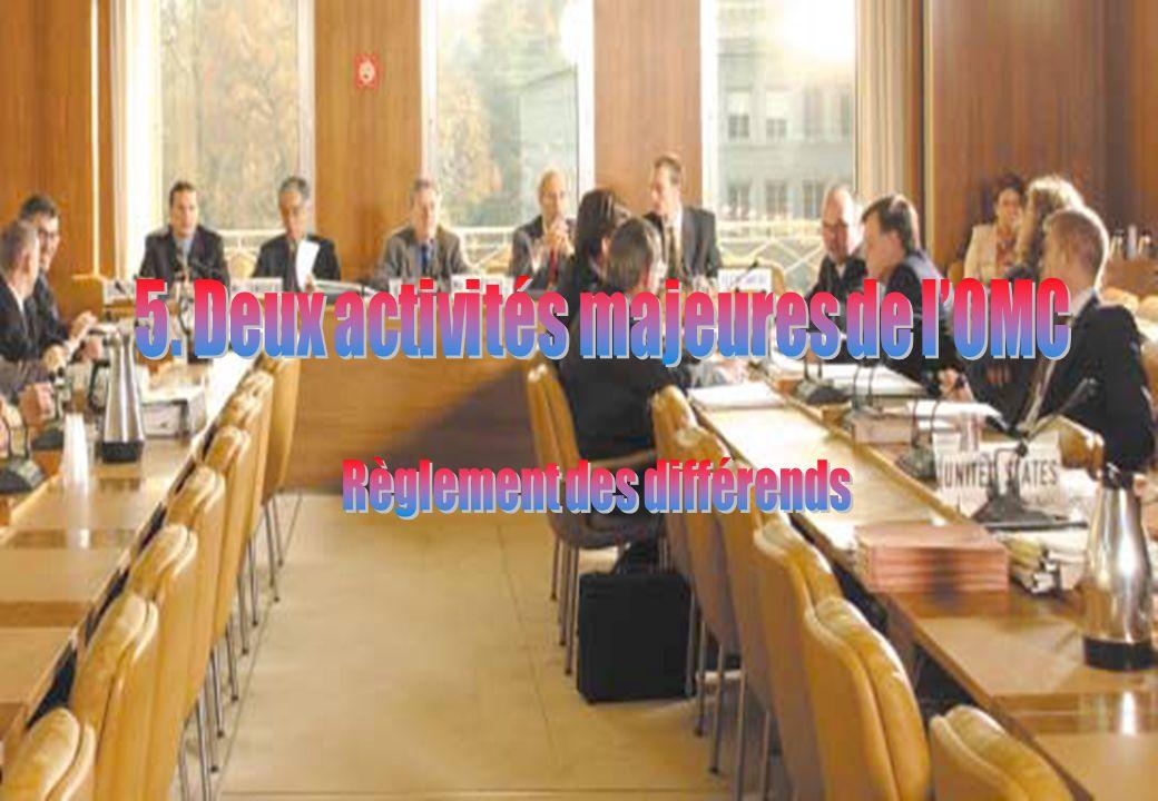 5. Deux activités majeures de l'OMC