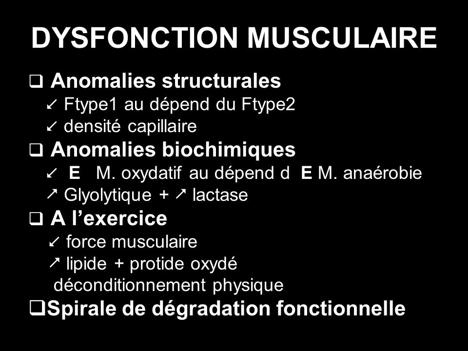 DYSFONCTION MUSCULAIRE