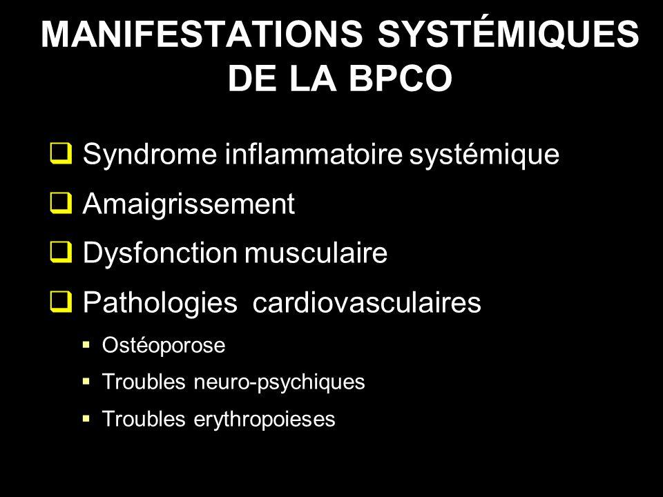 MANIFESTATIONS SYSTÉMIQUES DE LA BPCO