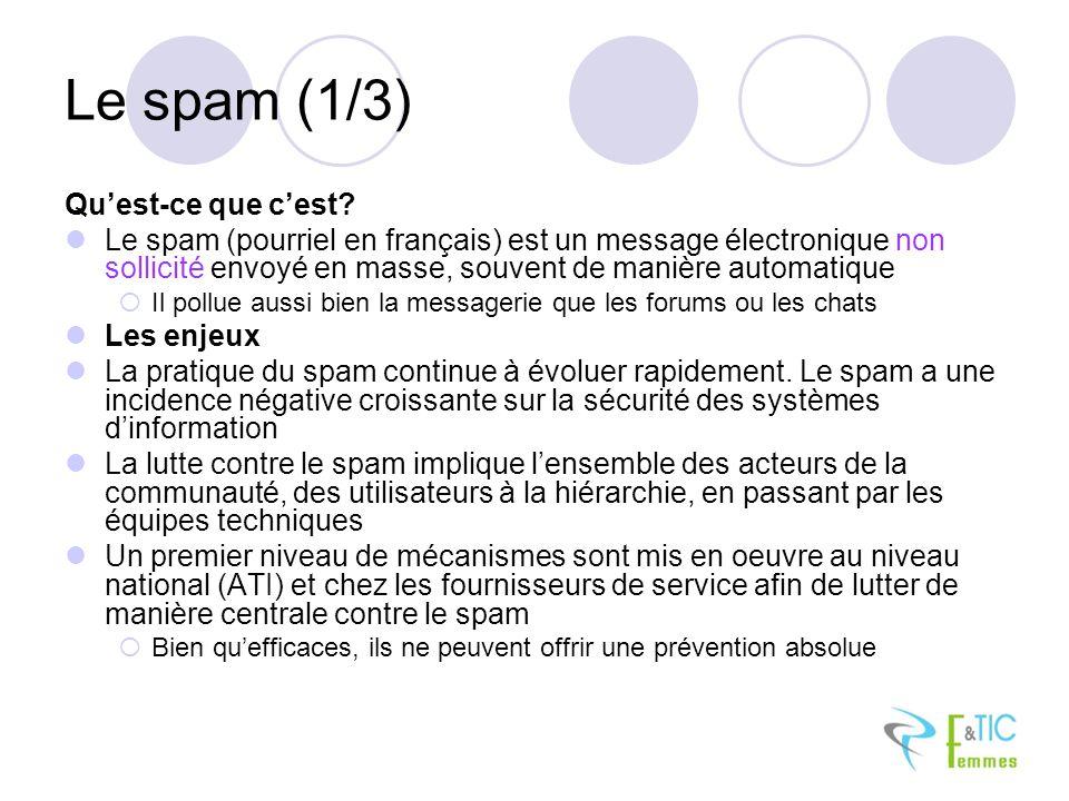 Le spam (1/3) Qu'est-ce que c'est