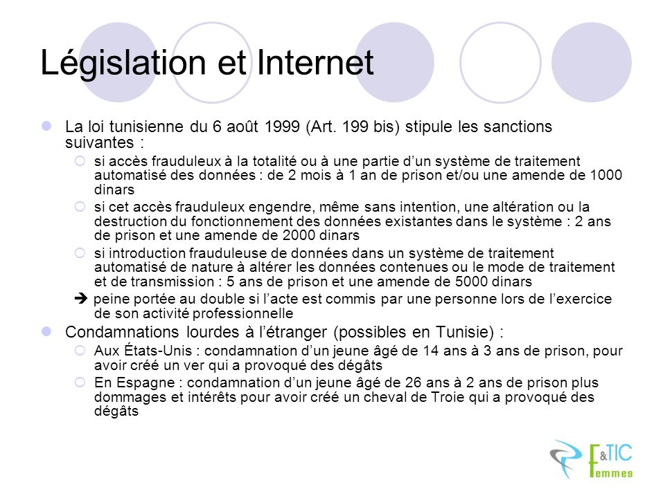 Législation et Internet