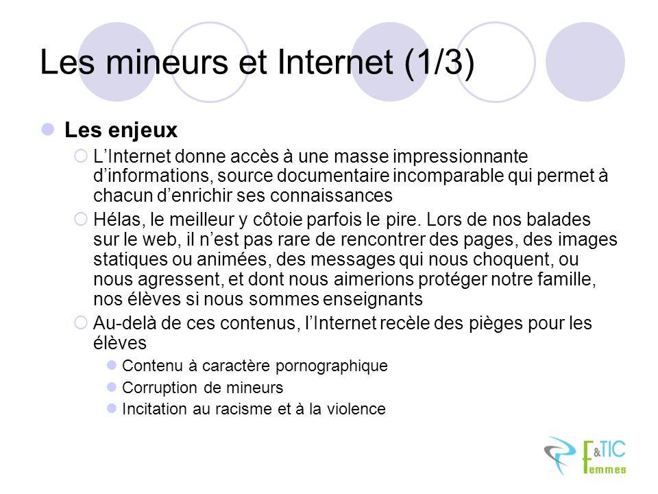 Les mineurs et Internet (1/3)