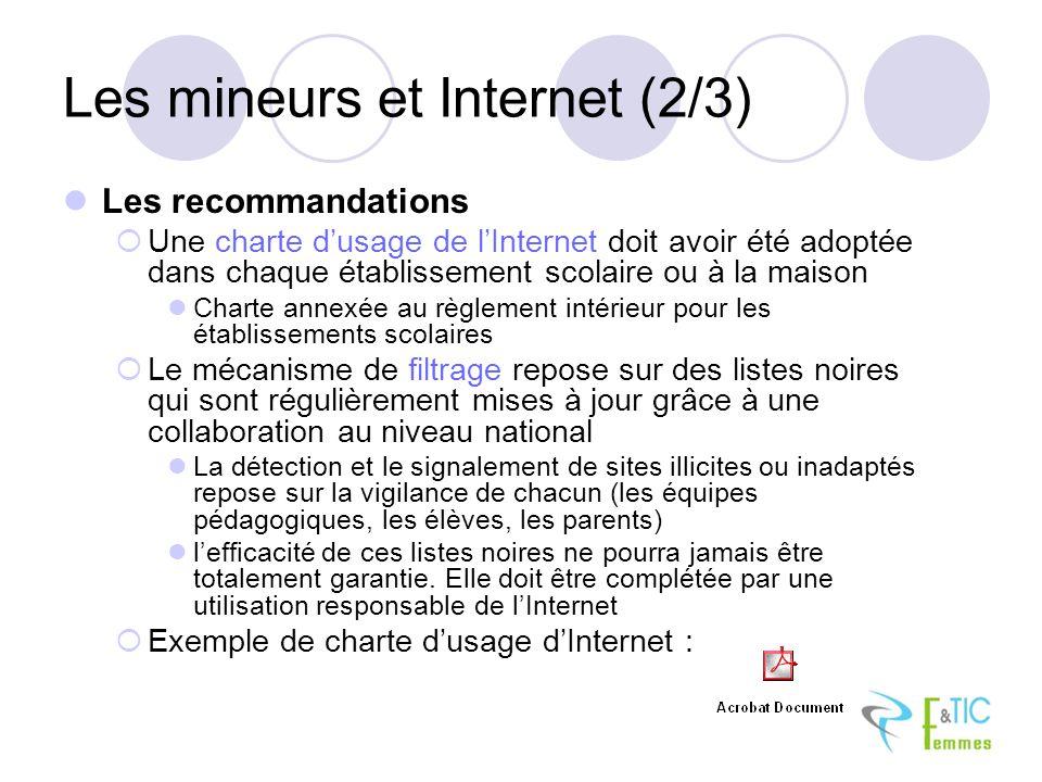 Les mineurs et Internet (2/3)