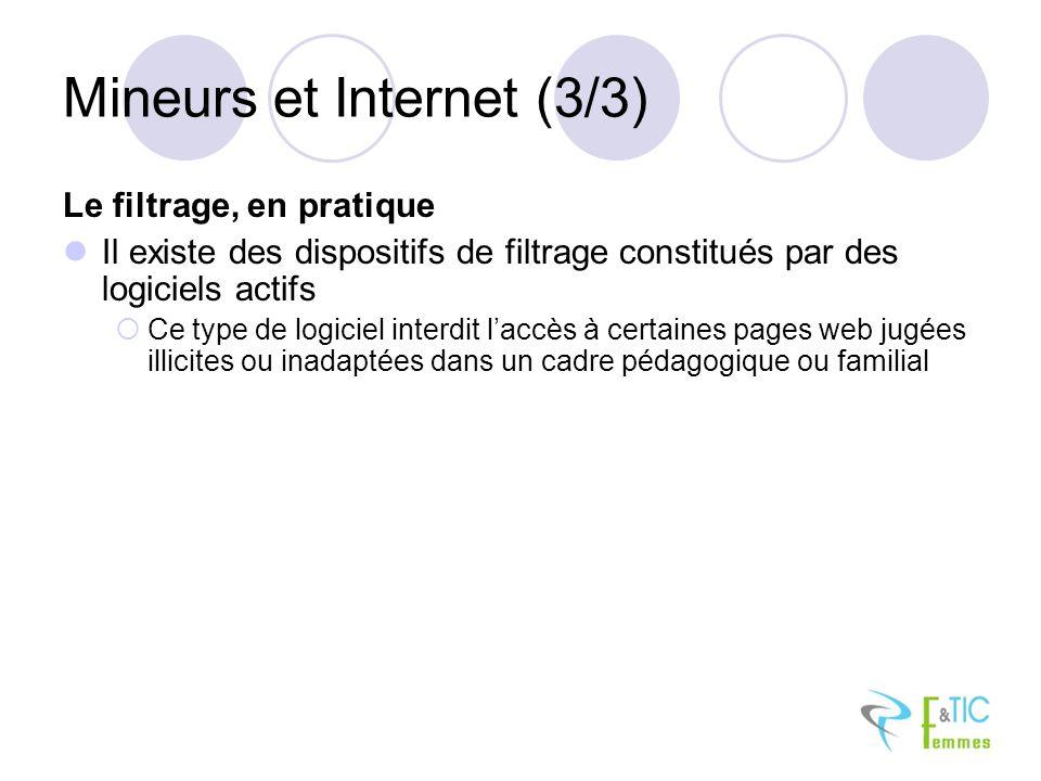 Mineurs et Internet (3/3)