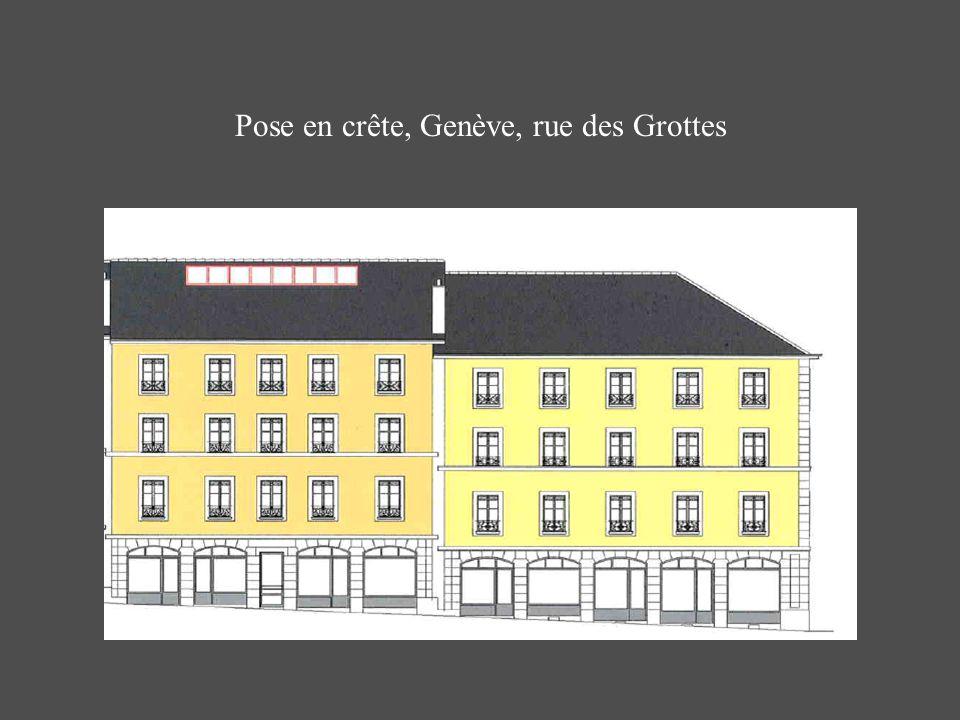Pose en crête, Genève, rue des Grottes
