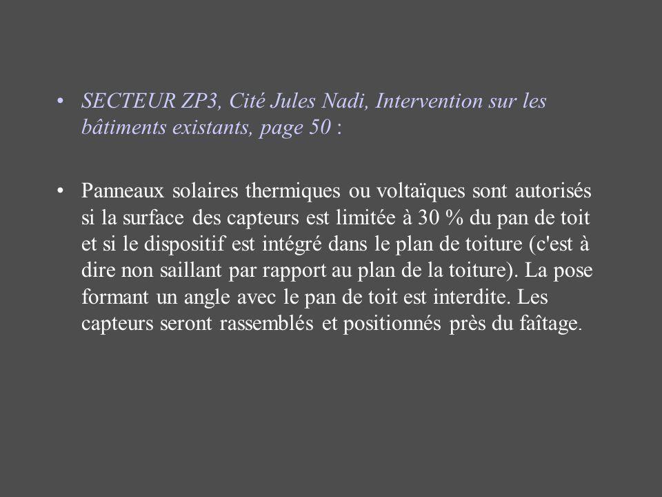 SECTEUR ZP3, Cité Jules Nadi, Intervention sur les bâtiments existants, page 50 :