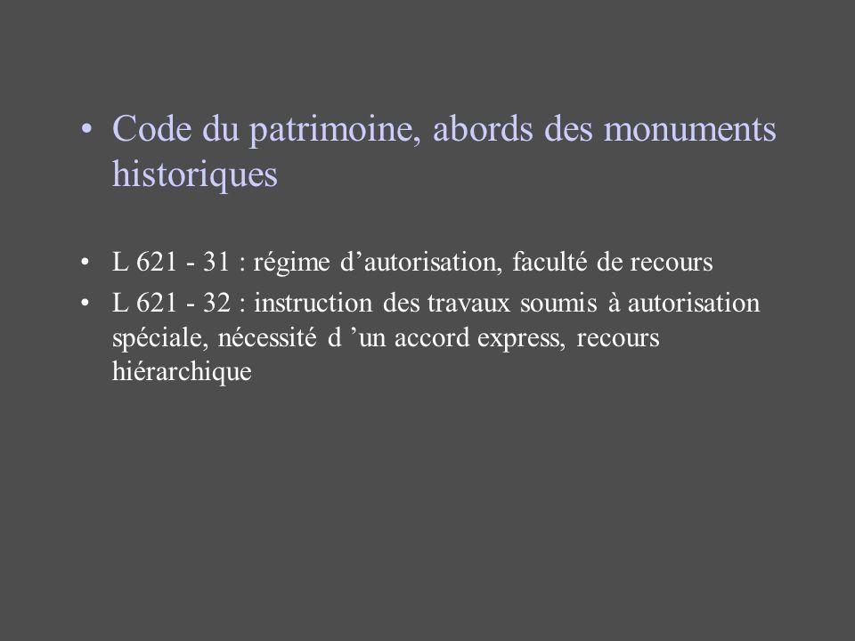 Code du patrimoine, abords des monuments historiques