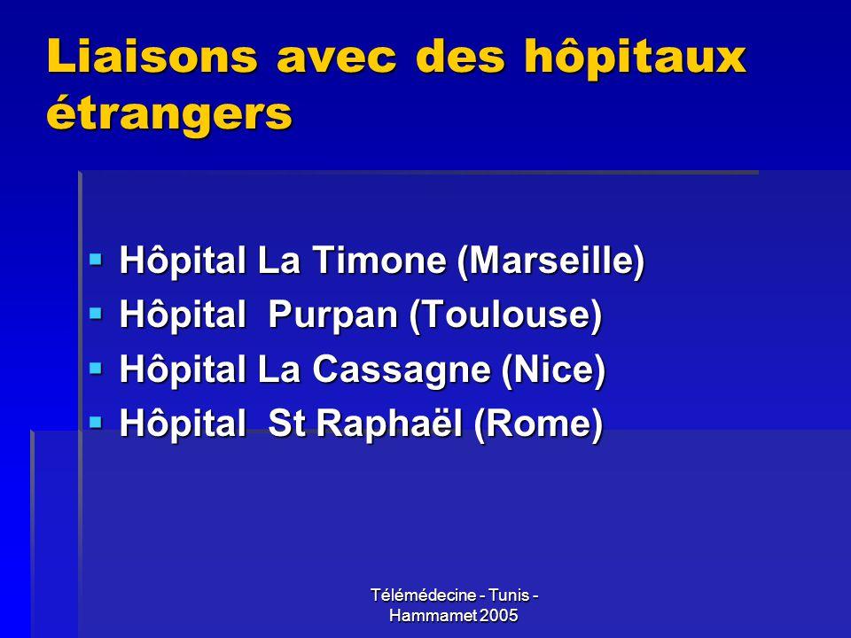 Liaisons avec des hôpitaux étrangers