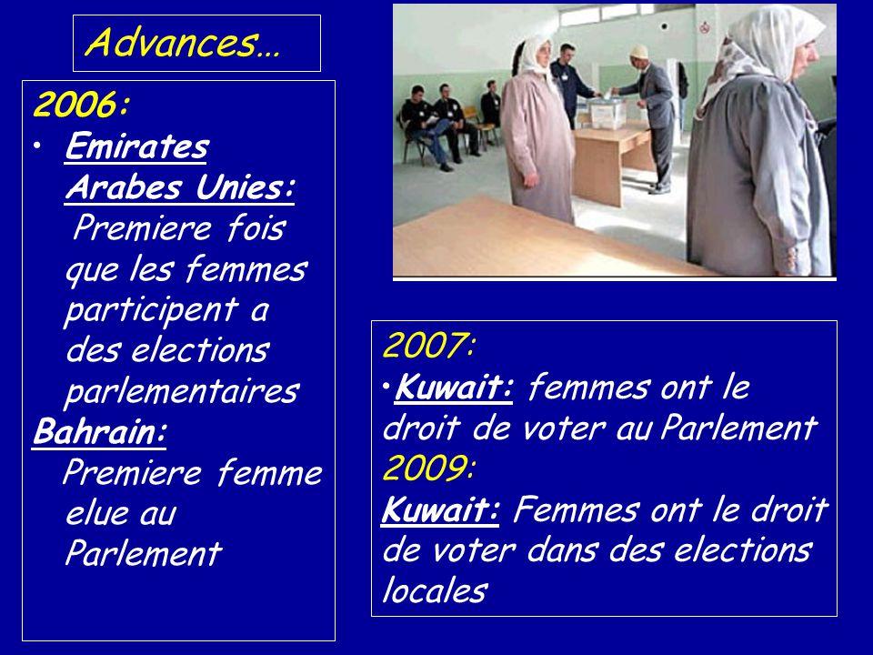 Advances… 2006: Emirates Arabes Unies: