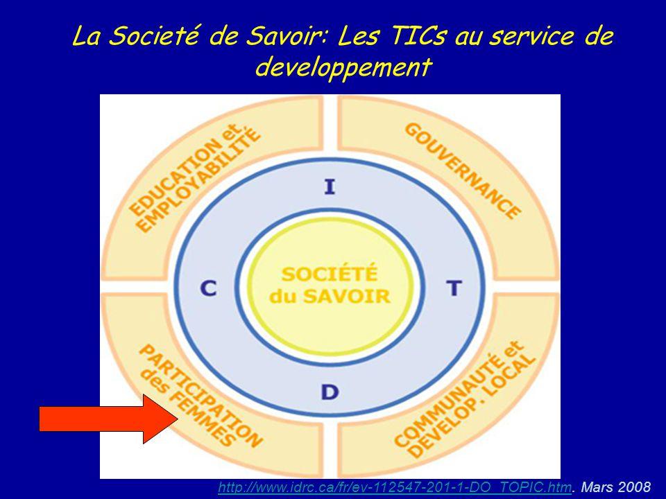 La Societé de Savoir: Les TICs au service de developpement