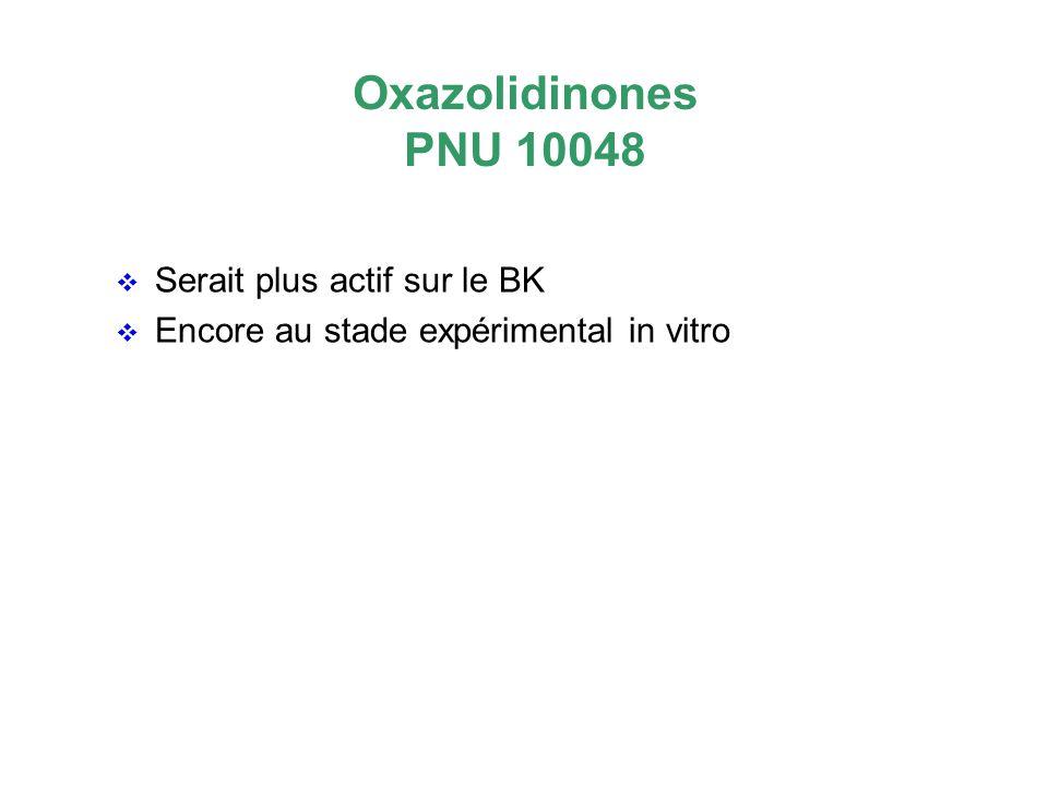 Oxazolidinones PNU 10048 Serait plus actif sur le BK