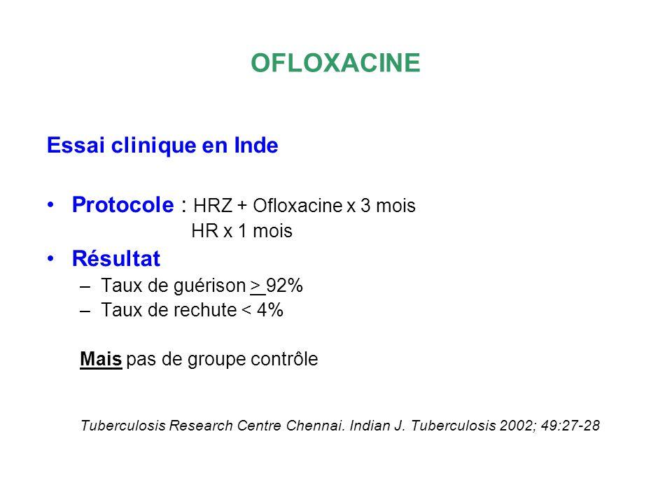 OFLOXACINE Essai clinique en Inde