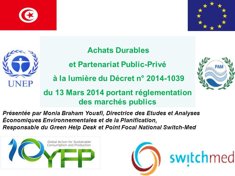 et Partenariat Public-Privé à la lumière du Décret n° 2014-1039