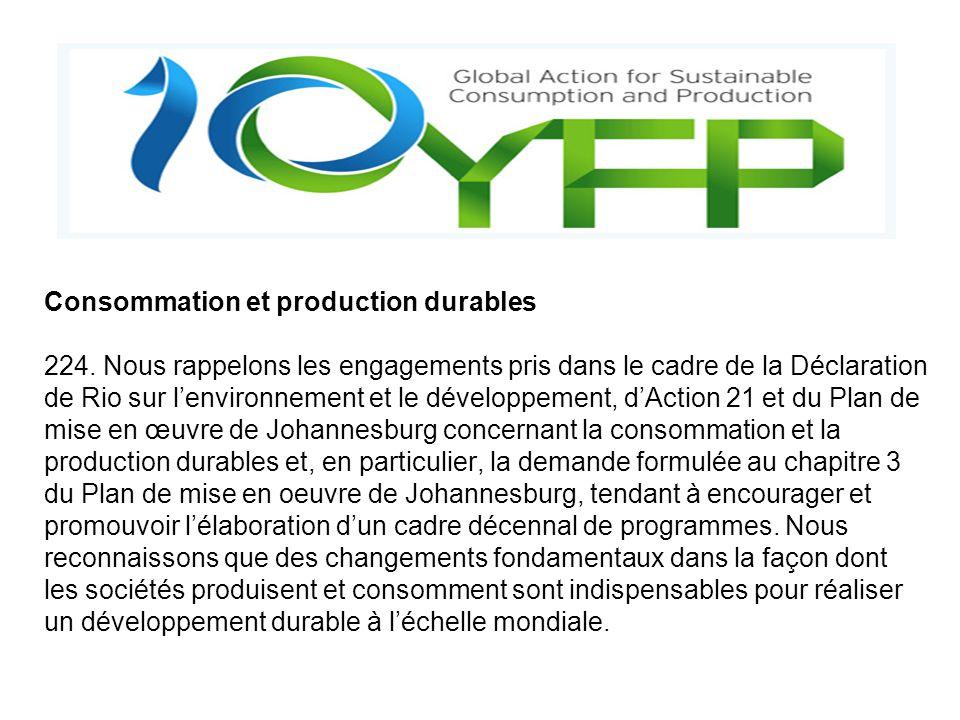 Consommation et production durables 224