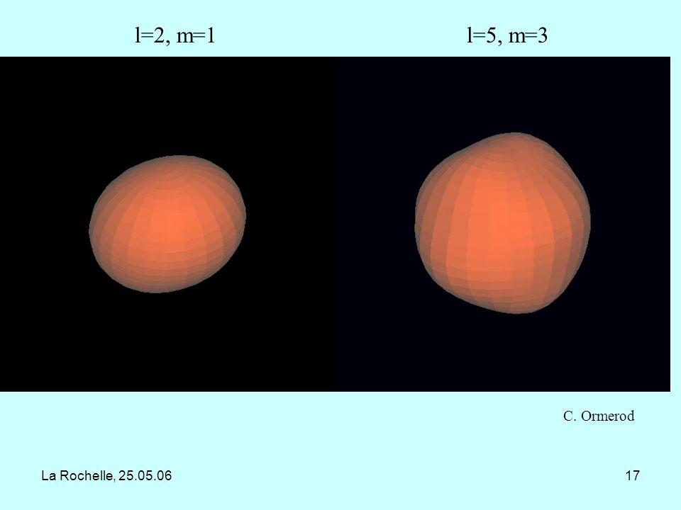 l=2, m=1 l=5, m=3 C. Ormerod La Rochelle, 25.05.06
