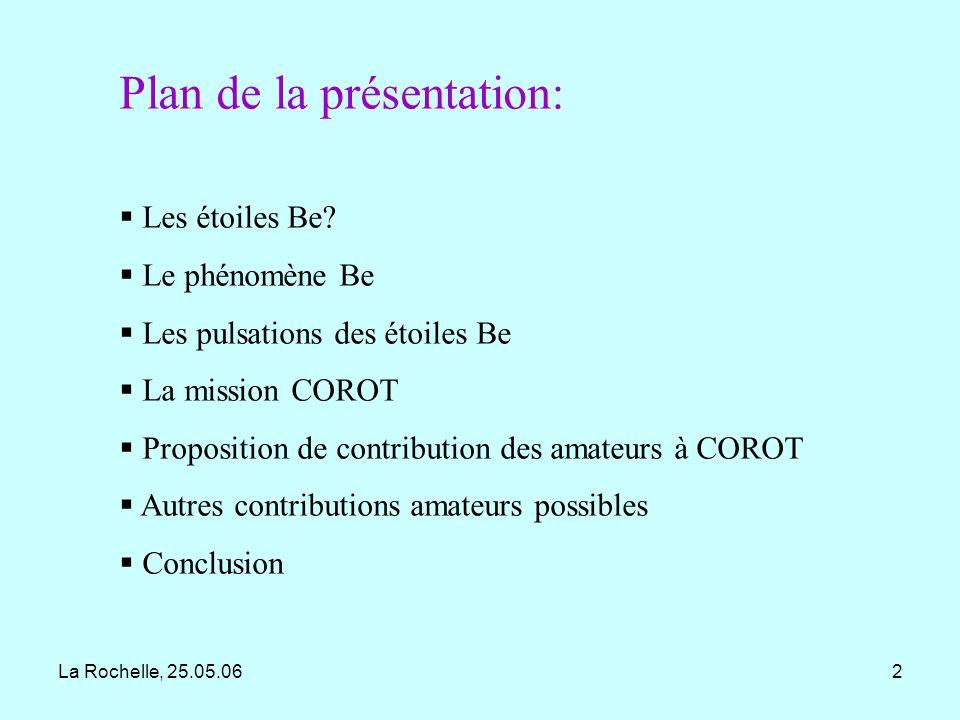 Plan de la présentation: