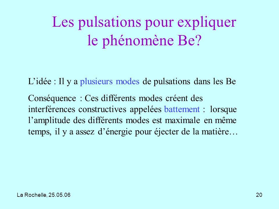 Les pulsations pour expliquer le phénomène Be