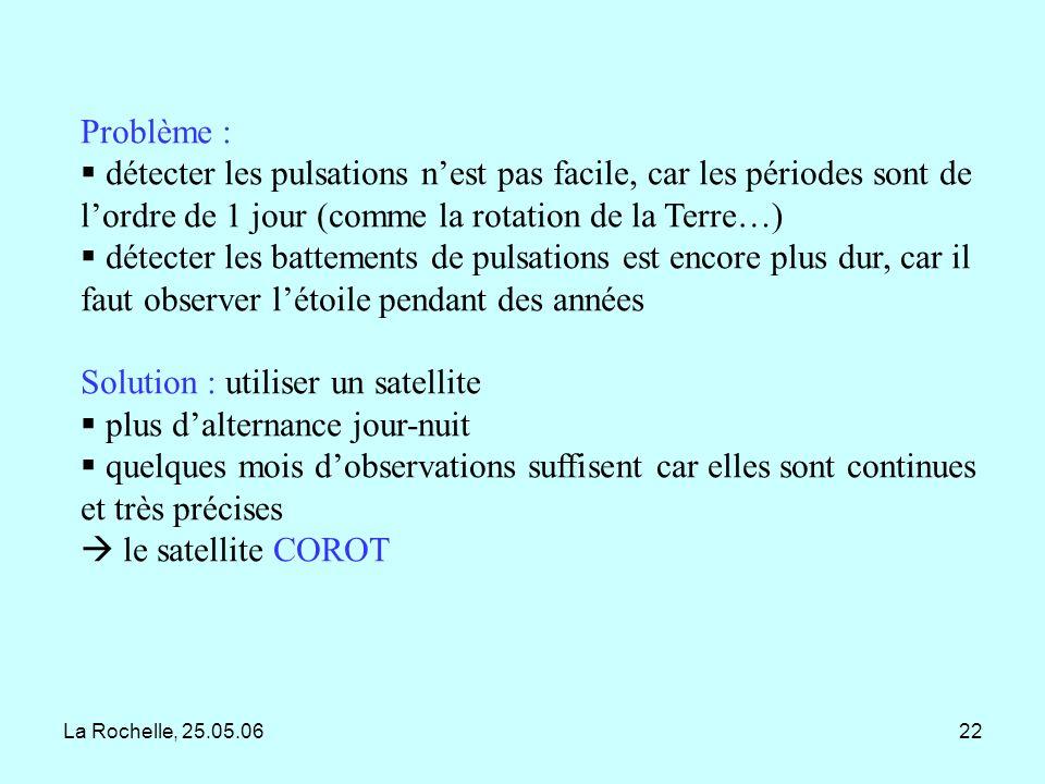 Solution : utiliser un satellite plus d'alternance jour-nuit