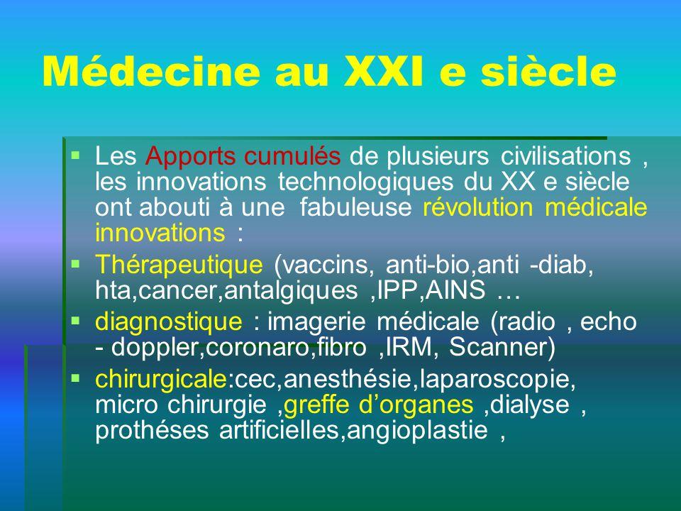 Médecine au XXI e siècle