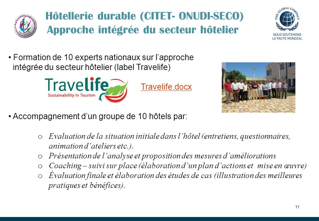 Hôtellerie durable (CITET- ONUDI-SECO) Approche intégrée du secteur hôtelier